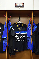 A general view of the jersey of Chris Cook of Bath Rugby, on the occasion of his 100th appearance for the club. European Rugby Champions Cup match, between RC Toulon and Bath Rugby on December 9, 2017 at the Stade Mayol in Toulon, France. Photo by: Patrick Khachfe / Onside Images