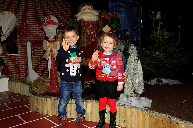 Eoghan &amp; Rachel Taaffe at Funtasia, Drogheda at the Winter Wonderland display on Friday 5th December 2014.<br /> Picture:  Thos Caffrey / www.newsfile.ie