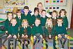 Gael Scoil, Lois Tuathail: Junior infants on theit first day at school at the Gael Scoi, Listowel.  Front : Dean O Organ O Sleibhin, Emma Ni Ifearnain, Cian O Suilleabhain O Murchu, Eabha Ni Chonchuir Ni Loinsigh & Naoh de Barra. Back : Ava Breathnach, Ellen Ni Dhrisceoil, Ben O Ciardha, Ailis Ni Dhalaigh, Eoin o Maoldomhnaigh,  Ella Brew,& Sophie Ni Bhnain. Muinteoir Deidre Aghas.