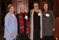 NWA Democrat-Gazette/CARIN SCHOPPMEYER Dina Wood (from left), Mary Purvis, Evelyn Brooks and Beth Beavers Prescott, UA Women's Giving Circle members, enjoy the group's Oct. 31 reception.