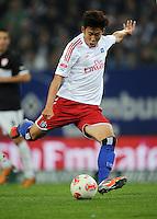 FUSSBALL   1. BUNDESLIGA    SAISON 2012/2013    8. Spieltag   Hamburger SV - VfB Stuttgart            21.10.2012 Heung Min Son (Hamburger SV) Einzelaktion am Ball