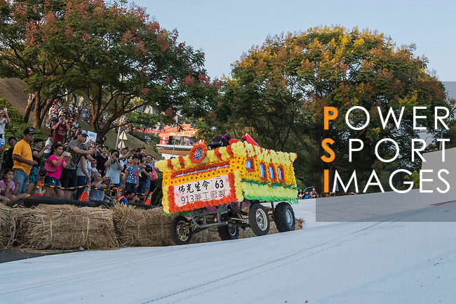 Team 佛光普皂 in action during the Red Bull Soapbox Race 2017 Taipei at Multipurpose Gymnasium National Taiwan Sport University on 01 October 2017, in Taipei, Taiwan. Photo by Victor Fraile / Power Sport Images