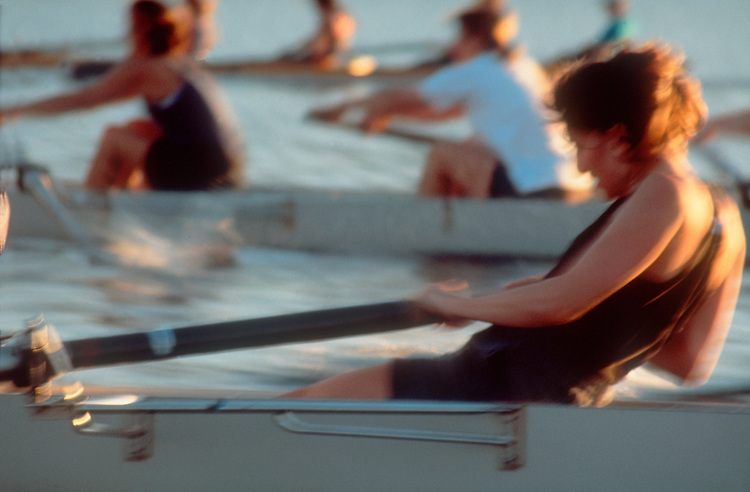 Rowing, Women, workout, Liz Calori, at the finish, Seattle, Washington, Lake Washington Rowing Club,