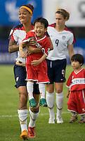 Natasha Kai, Korean boy. The USWNT defeated, 2-0, at the Suwon Sports Center in Suwon, South Korea.