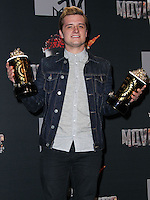 LOS ANGELES, CA, USA - APRIL 13: Josh Hutcherson in the press room at the 2014 MTV Movie Awards held at Nokia Theatre L.A. Live on April 13, 2014 in Los Angeles, California, United States. (Photo by Xavier Collin/Celebrity Monitor)
