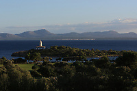 Alcanada Island and Lighthouse during the Pro-Am of the Challenge Tour Grand Final 2019 at Club de Golf Alcanada, Port d'Alcúdia, Mallorca, Spain on Wednesday 6th November 2019.<br /> Picture:  Thos Caffrey / Golffile<br /> <br /> All photo usage must carry mandatory copyright credit (© Golffile | Thos Caffrey)