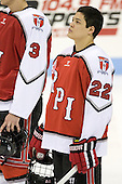 C.J. Lee (RPI - 22) - The visiting Rensselaer Polytechnic Institute Engineers tied their host, the Northeastern University Huskies, 2-2 (OT) on Friday, October 15, 2010, at Matthews Arena in Boston, MA.