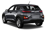 Car pictures of rear three quarter view of 2020 Hyundai Kona SE 5 Door SUV Angular Rear