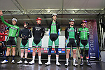 Team Ireland at sign on before the Men Elite Road Race of the UCI World Championships 2019 running 280km from Leeds to Harrogate, England. 29th September 2019.<br /> Picture: Eoin Clarke | Cyclefile<br /> <br /> All photos usage must carry mandatory copyright credit (© Cyclefile | Eoin Clarke)