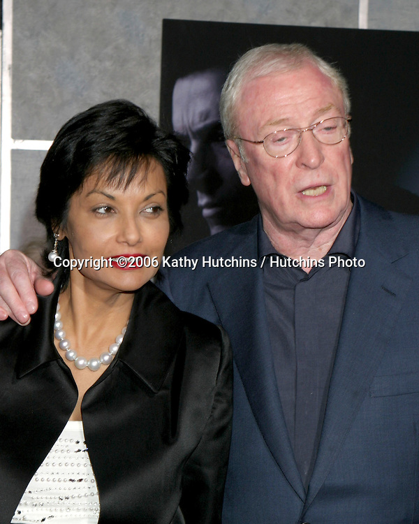 ".Premiere of  ""The Prestige"".El Capitan Theater.Los Angeles, CA.October 17, 2006.©2006 Kathy Hutchins / Hutchins Photo....                 Michael Caine and wife Shakira.Premiere of  ""The Prestige"".El Capitan Theater.Los Angeles, CA.October 17, 2006.©2006 Kathy Hutchins / Hutchins Photo...."