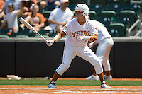 Outfielder Mark Payton #15 of the Texas Longhorns at bat against Texas Tech on April 17, 2011 at UFCU Disch-Falk Field in Austin, Texas. (Photo by Andrew Woolley / Four Seam Images)