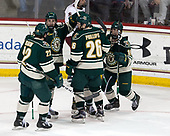 Brady Shaw (UVM - 22), Craig Puffer (UVM - 17), Trey Phillips (UVM - 26), Jarrid Privitera (UVM - 19) - The Boston College Eagles defeated the University of Vermont Catamounts 7-4 on Saturday, March 11, 2017, at Kelley Rink to sweep their Hockey East quarterfinal series.The Boston College Eagles defeated the University of Vermont Catamounts 7-4 on Saturday, March 11, 2017, at Kelley Rink to sweep their Hockey East quarterfinal series.