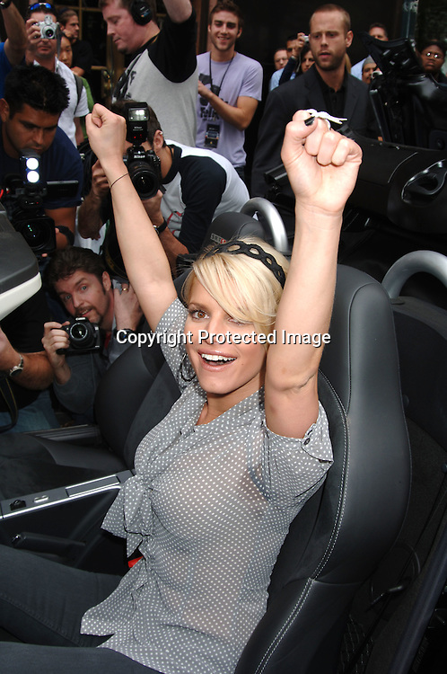 Jessica Simpson winning a  Chrysler Crossfire SRT 8 Car..at The Style Villa at The Bryant Park Hotel on ..August 31, 2006. ..Robin Platzer, Twin Images