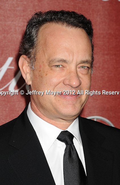 PALM SPRINGS, CA - JANUARY 07: Tom Hanks arrives at the 2012 Palm Springs Film Festival Awards Gala at the Palm Springs Convention Center on January 7, 2012 in Palm Springs, California.