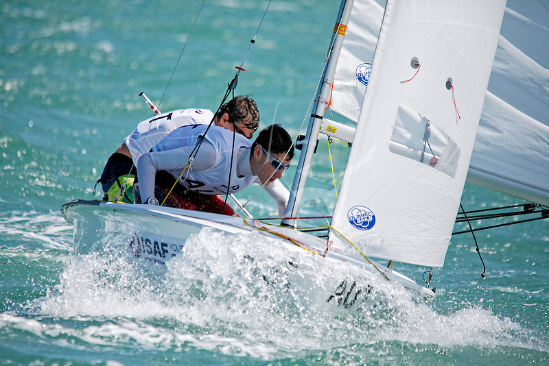 Australia	420	Men	Crew	AUSXW1	Xavier	Winston Smith<br /> Australia	420	Men	Helm	AUSAB56	Alec	Brodie<br /> Day2, 2015 Youth Sailing World Championships,<br /> Langkawi, Malaysia