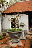 VIETNAM, Hanoi, Countryside, a small tree planted in a pot at a temple in the village of Y, Thanh Bac Ninh