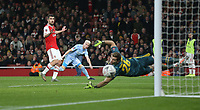 Leeds United's Ezgjan Alioski goes close in the first half<br /> <br /> Photographer Rob Newell/CameraSport<br /> <br /> Emirates FA Cup Third Round - Arsenal v Leeds United - Monday 6th January 2020 - The Emirates Stadium - London<br />  <br /> World Copyright © 2020 CameraSport. All rights reserved. 43 Linden Ave. Countesthorpe. Leicester. England. LE8 5PG - Tel: +44 (0) 116 277 4147 - admin@camerasport.com - www.camerasport.com