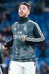 Sergio Ramos of Real Madrid during La Liga match between Real Madrid and Rayo Vallecano at Santiago Bernabeu Stadium in Madrid, Spain. December 15, 2018. (ALTERPHOTOS/Borja B.Hojas)