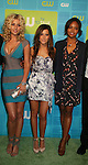 Guiding Light's Sharon Leal in in the new Hellcats with castmates Aly Michalka and Ashley Tisdale at The CW Upfront 2010 green carpet arrivals on May 20, 2010 at Madison Square Gardens, New York, New York. (Photo by Sue Coflin/Max Photos)