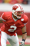MADISON, WI - SEPTEMBER 9: Linebacker Jonathan Casillas #2 of the Wisconsin Badgers warms up prior to the game against the Western Illinois Leathernecks at Camp Randall Stadium on September 9, 2006 in Madison, Wisconsin. The Badgers beat the Leathernecks 34-10. (Photo by David Stluka)