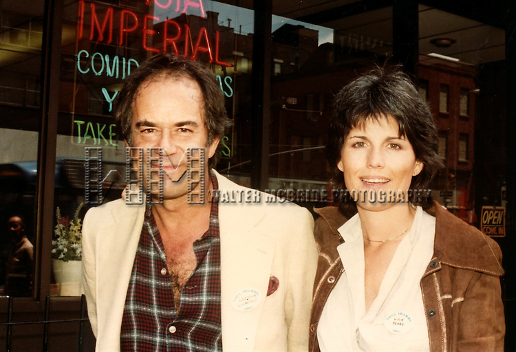 Lucie Arnaz with Laurence Luckinbill.( star of THEY'RE PLAYING OUR SONG ).New York City..May 1983.© Walter McBride /
