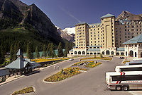 AJ3634, Banff National Park, Lake Louise, Alberta, Canada, Canadian Rockies, Rocky Mountains, Chateau Lake Louise in Banff National Park in the province of Alberta.