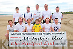 Michael Freemantle Tag rugby Memorial Tournament : The North Kerry Team who took part in the Michael Freemantle Tag rugby Memorial Tournament held in the Cashen Beach, Ballyduff on Sunday last.Front : James Foley, Tim Dillon, Lisa Kearney, cathal Gibbons, mascot, Michelle Kearney, Mairead Regan & Cillian Costello. Back : Kevin Dillon, Owen Gibbons, Liam Houlihan, Diarmuid Whelan & Paul Nolan.