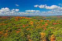 Earluyautumn sets in the Great Lakes-St. Lawrence Forest. Photo taken from the top of the Dorset Tower.<br /> Dorset<br /> Ontario<br /> Canada