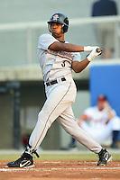 Greeneville Astros outfielder Steve Brown follows through on his swing versus the Danville Braves at American Legion Field in Danville, VA, Saturday, July 1, 2006.