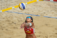 VADUZ, LIECHTENSTEIN, 10.08.2019- FIVB BEACH VOLLEYBALL WORLD TOUR: Reika Murakami do Japão durante a partida das quartas de final a contar para o torneio FIVB Beach Volleyball World Tour Star1 na Beacharena, em Vaduz, Liechtenstein, nesse sabado 10. (Foto: Bruno de Carvalho / Brazil Photo Press)
