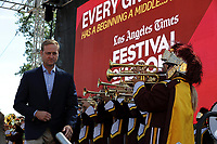 Justin Dearborn, chief executive of Tronc Inc., The Times' parent company, at the Los Angeles Times Festival of Books held at USC in Los Angeles, California on Saturday, April 22, 2017