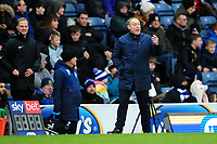 Steve Cooper Head Coach of Swansea City shouts instructions to his team from the dug-out during the Sky Bet Championship match between Blackburn Rovers and Swansea City at Ewood Park on in Blackburn, England, UK. Saturday 29 February 2020