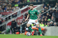 16th November 2019; Windsor Park, Belfast, County Antrim, Northern Ireland; European Championships 2020 Qualifier, Northern Ireland versus Netherlands; Northern Ireland's Stuart Dallas looks to bring the ball forward - Editorial Use