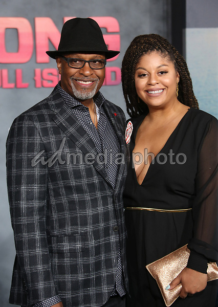 "08 March 2017 - Hollywood, California - James Pickens Jr., Gavyn Pickens. ""Kong: Skull Island"" Los Angeles Premiere held at Dolby Theatre. Photo Credit: AdMedia"