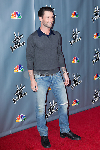 "UNIVERSAL CITY, CA - NOVEMBER 07: Recording Artist Adam Levine at NBC's ""The Voice"" Season 5 Top 12 in Universal City Plaza, on November 7th, 2013 in Universal City, California Photo Credt: RTNRossi / MediaPunch Inc."