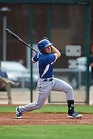 Los Angeles Dodgers Jordan Tarsovich (3) during an instructional league game against the Cleveland Indians on October 15, 2015 at the Goodyear Ballpark Complex in Goodyear, Arizona.  (Mike Janes/Four Seam Images)