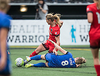 Seattle, Washington - Saturday August 27, 2016: Seattle Reign FC against Portland Thorns at Memorial Stadium on Saturday August 27, 2016 in Seattle, Washington.