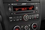 Stereo audio system close up detail view of a 2008 Nissan Altma Coupe