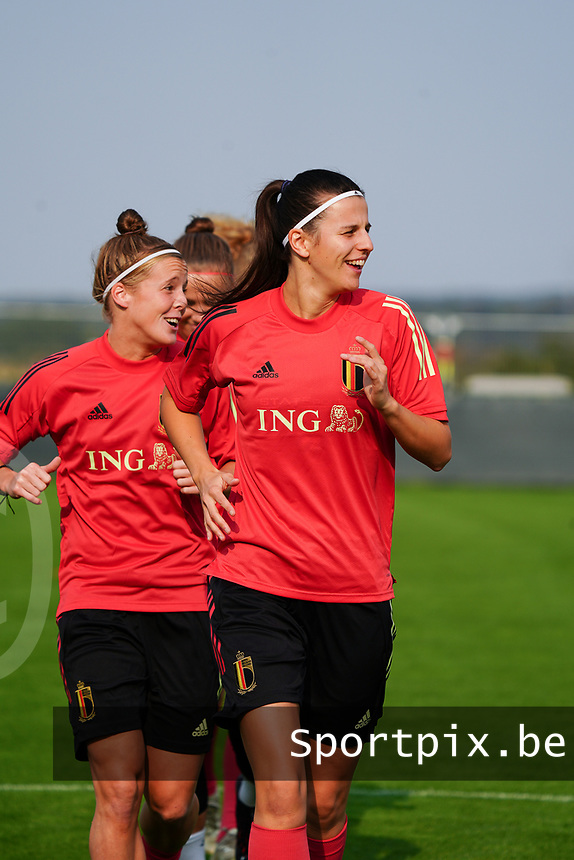 20200911 - TUBIZE , Belgium : Laure De Neve picture during a training session of the Belgian Women's National Team, Red Flames , on the 11th of September 2020 in Tubize. PHOTO SEVIL OKTEM| SPORTPIX.BE