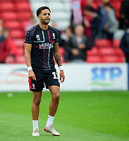 Lincoln City's Bruno Andrade during the pre-match warm-up<br /> <br /> Photographer Andrew Vaughan/CameraSport<br /> <br /> The EFL Sky Bet League One - Lincoln City v Sunderland - Saturday 5th October 2019 - Sincil Bank - Lincoln<br /> <br /> World Copyright © 2019 CameraSport. All rights reserved. 43 Linden Ave. Countesthorpe. Leicester. England. LE8 5PG - Tel: +44 (0) 116 277 4147 - admin@camerasport.com - www.camerasport.com