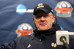 13 December 2013: Notre Dame head coach Bobby Clark (SCO) during the postgame press conference. The University of Notre Dame Fighting Irish played the University of New Mexico Lobos at PPL Park in Chester, Pennsylvania in a 2013 NCAA Division I Men's College Cup semifinal match. Notre Dame won the game 2-0.