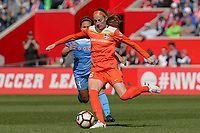 Bridgeview, IL - Saturday May 06, 2017: Janine Beckie during a regular season National Women's Soccer League (NWSL) match between the Chicago Red Stars and the Houston Dash at Toyota Park. The Red Stars won 2-0.