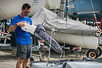 AR_07302016_RIO_HOUSTON_0077.ARW  © Amory Ross / US Sailing Team.  HOUSTON - TEXAS- USA. July 30, 2016. The US Sailing Team moves their boats and equipment from Niteroi, the training center for the past three years, across Guanabara Bay to the new Olympic sailing venue in Rio de Janeiro.