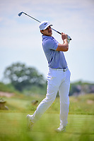 Brooks Koepka (USA) watches his tee shot on 13 during Friday's round 2 of the 117th U.S. Open, at Erin Hills, Erin, Wisconsin. 6/16/2017.<br /> Picture: Golffile | Ken Murray<br /> <br /> <br /> All photo usage must carry mandatory copyright credit (&copy; Golffile | Ken Murray)