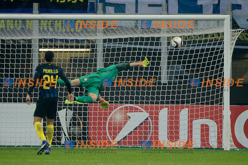 Gol di Lukas Marecek Sparta Praga 1-1. Celebration goal<br /> Milano 8-12-2016 Stadio Giuseppe Meazza - Football Calcio Europa League Inter - Sparta Praga. Foto Giuseppe Celeste / Insidefoto