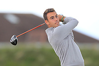 Antoine Auboin (FRA) on the 5th tee during Round 1 of the The Amateur Championship 2019 at The Island Golf Club, Co. Dublin on Monday 17th June 2019.<br /> Picture:  Thos Caffrey / Golffile<br /> <br /> All photo usage must carry mandatory copyright credit (© Golffile | Thos Caffrey)