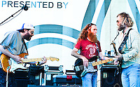 Anders Osborne, Billy Iuso, Carl Dufrene, Doug Belote playing at the YLC's Lafayette Square concert series.
