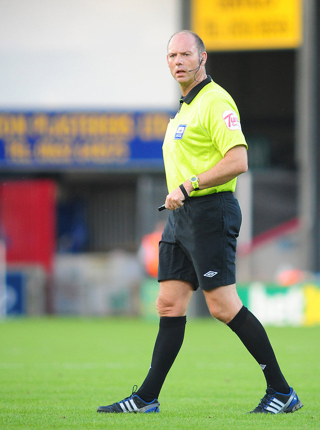 Referee Andy Haines..Football Friendly - Scunthorpe United v Middlesbrough - Wednesday 8th August 2012 - Glanford Park - Scunthorpe..