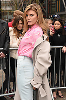 Maryna Linchuk<br /> arrives for the Topshop Unique AW17 show as part of London Fashion Week AW17 at Tate Modern, London.<br /> <br /> <br /> &copy;Ash Knotek  D3232  19/02/2017