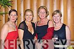 Maureen Griffin Killarney, Maudie Burke Sneem, Miriam Vaughan, Mona Looney Killarney enjoying the Kerry All Stars ball in the Malton Hotel Killarney on Friday night